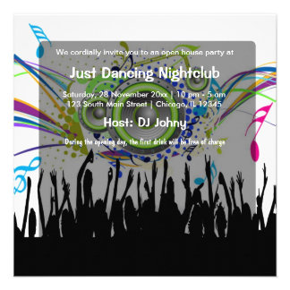 Club nocturno de la gran inauguración anuncio