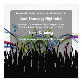 Club nocturno de la gran inauguración comunicado personalizado