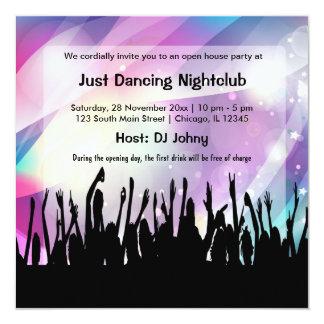 Club nocturno de la gran inauguración invitación 13,3 cm x 13,3cm