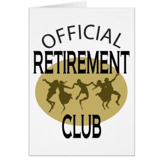 Club oficial del retiro tarjeta de felicitación