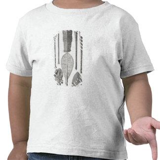 Clubs e insignias de la fila polinesios camiseta