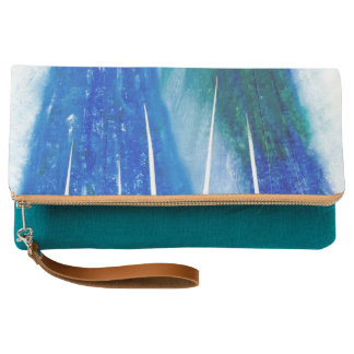 Clutch Arte en colores pastel azul