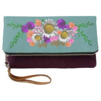 Clutch Color de acento floral de la margarita preciosa