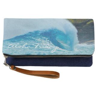 Clutch Embrague azul del Hawaiian de la onda de la playa