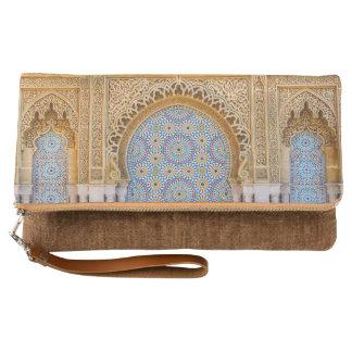 Clutch Marruecos pliega el embrague, canela