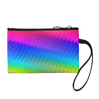 Clutch Tipo Monedero Arco iris de Chevron