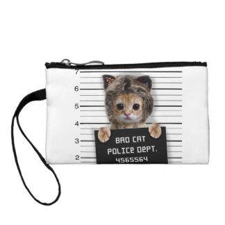 Clutch Tipo Monedero gato del mugshot - gato loco - gatito - felino