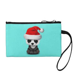 Clutch Tipo Monedero Oso de panda del bebé que lleva un gorra de Santa