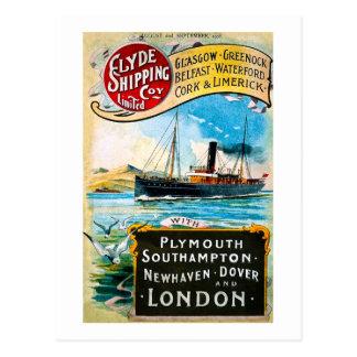 Clyde Shipping Company - vintage Tarjeta Postal