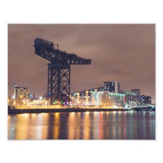 Clydeport en la noche impresiones fotograficas