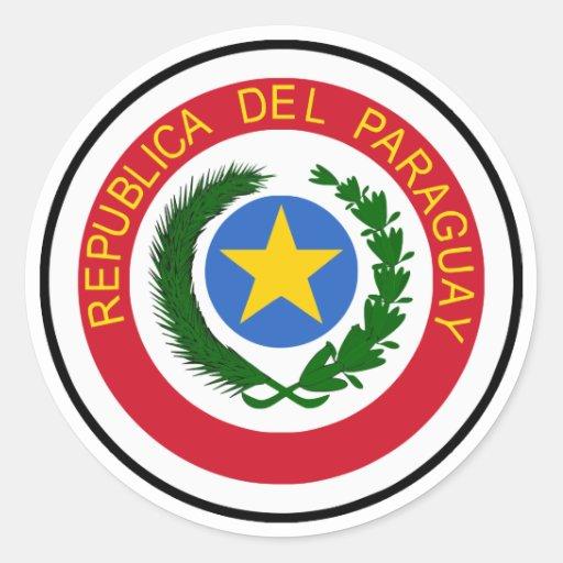 """""""COA de Paraguay """" Etiquetas Redondas"""
