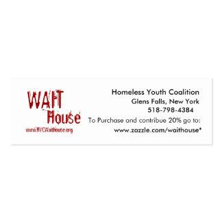 Coalición sin hogar de la juventud, Glens Falls, Tarjetas De Visita Mini