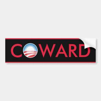 Cobarde de Obama Pegatina Para Coche