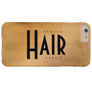 Cobre del salón de pelo metálico funda de iPhone 6 plus barely there
