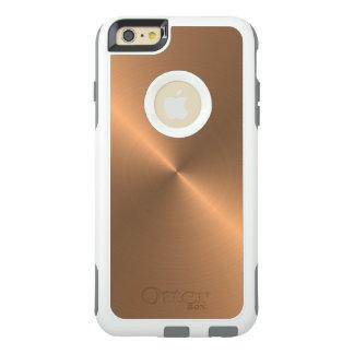 Cobre pulido textura realista fresca del metal funda otterbox para iPhone 6/6s plus