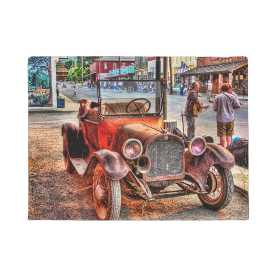 COCHE 1915 Y PERRO DEL VINTAGE