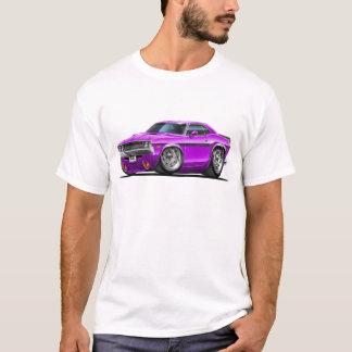 Coche 1970-72 de la púrpura del desafiador camiseta