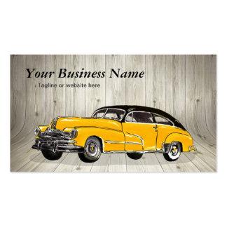 Coche amarillo clásico del músculo - automotriz tarjetas de visita