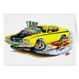 Coche amarillo de Buick GSX Tarjeta De Felicitación