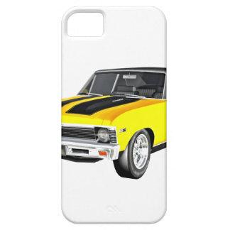 Coche amarillo del músculo 1968 funda para iPhone SE/5/5s