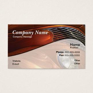 Coche anaranjado tarjeta de visita