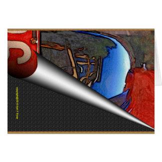 Coche antiguo como tarjetas de nota del arte