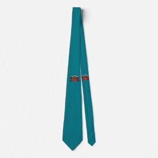 Coche antiguo en rojo corbatas personalizadas