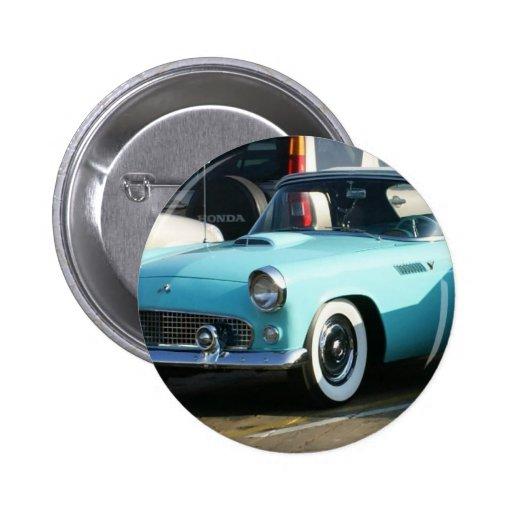 Coche auto de Collctor de la turquesa clásica Pin