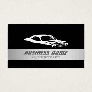 Coche automotriz rayado de la plata moderna auto tarjeta de visita