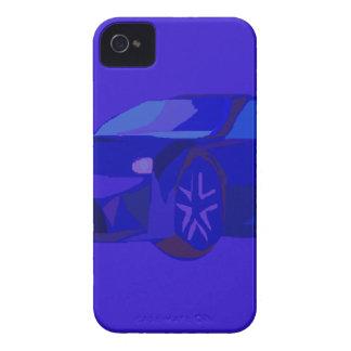 Coche azul iPhone 4 Case-Mate carcasas