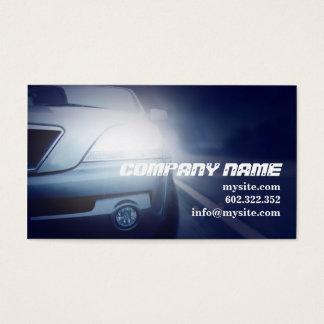 Coche azul marino automotriz del mecánico tarjeta de negocios