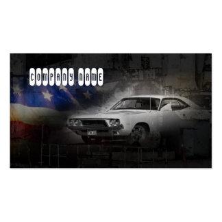 Coche blanco clásico automotriz americano del tarjetas de visita