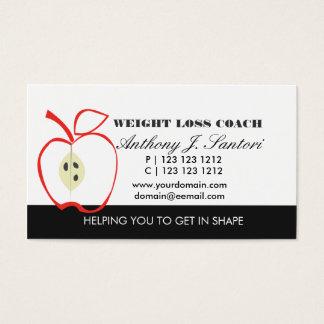 Coche blanco y negro clásico de la pérdida de peso tarjeta de negocios
