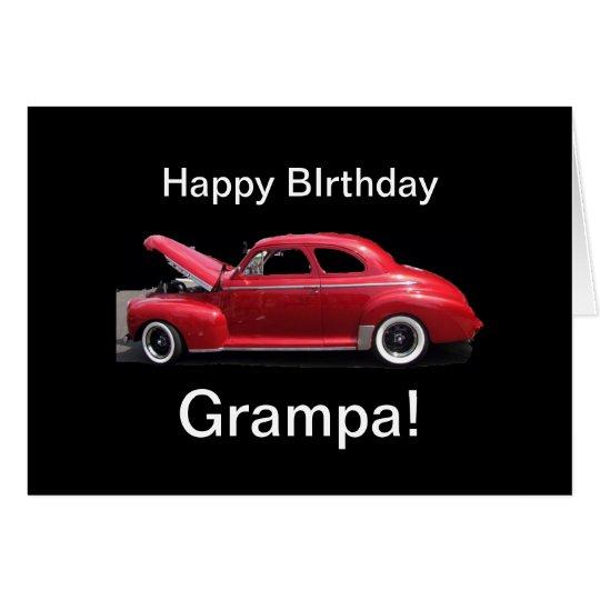 Coche de abuelo de la obra clásica del cumpleaños tarjeta de felicitación