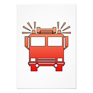 Coche de bomberos comunicado personalizado