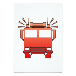 Coche de bomberos invitación 8,9 x 12,7 cm