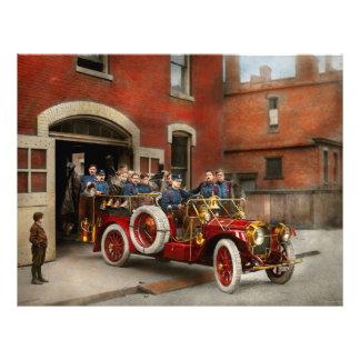 Coche de bomberos - la escuadrilla 1911 del vuelo folleto 21,6 x 28 cm