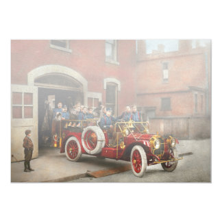 Coche de bomberos - la escuadrilla 1911 del vuelo invitación 12,7 x 17,8 cm