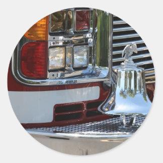 Coche de bomberos etiquetas redondas
