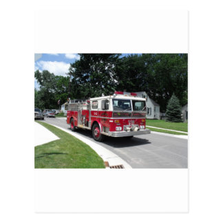 coche de bomberos postal
