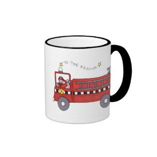 Coche de bomberos taza de café