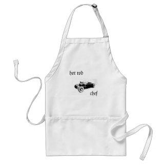 coche de carreras, cocinero delantal