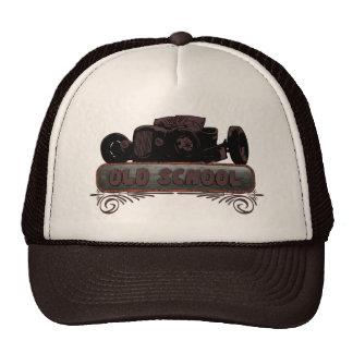 Coche de carreras de la escuela vieja gorras de camionero