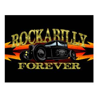 Coche de carreras del Rockabilly del engrasador Postal