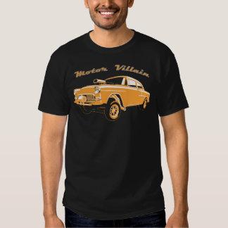 Coche de carreras viejo del coche de carreras de camisetas