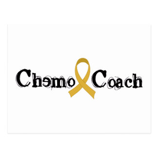 Coche de Chemo - cinta del oro del cáncer de la Postal