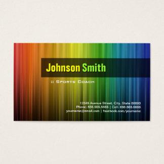 Coche de deportes - colores elegantes del arco tarjeta de visita