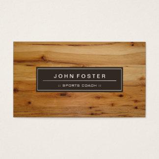 Coche de deportes - grano de madera de la frontera tarjeta de negocios