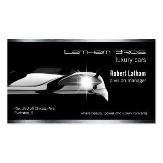 coche de lujo negro liso del negocio del coche tarjetas de visita