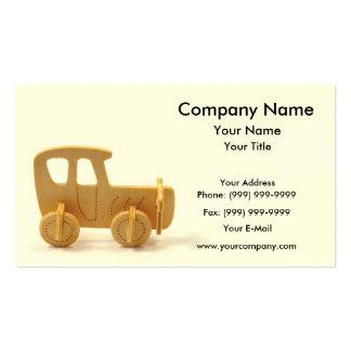 Coche de madera tarjeta de visita